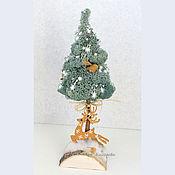 Подарки к праздникам ручной работы. Ярмарка Мастеров - ручная работа Елка с оленем. Handmade.