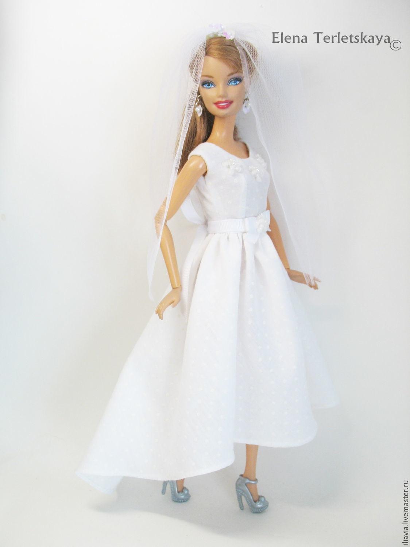 Как сделать свадебное платье своими руками кукле барби