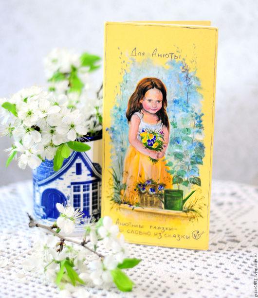 Детские открытки ручной работы. Ярмарка Мастеров - ручная работа. Купить коллекция открыток. Handmade. Комбинированный, корзина с цветами