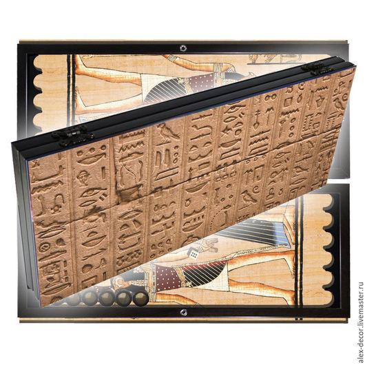 Настольные игры ручной работы. Ярмарка Мастеров - ручная работа. Купить Эксклюзивные нарды EGYPT (серия S). Handmade. Комбинированный