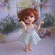 Куклы и игрушки ручной работы. Ярмарка Мастеров - ручная работа Платье с бисером. Handmade.