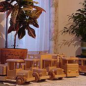 Сувениры и подарки ручной работы. Ярмарка Мастеров - ручная работа деревянный грузовик. Handmade.