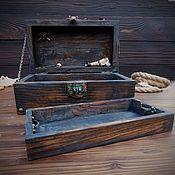 handmade. Livemaster - original item Pirate treasure chest with internal drawer. Handmade.