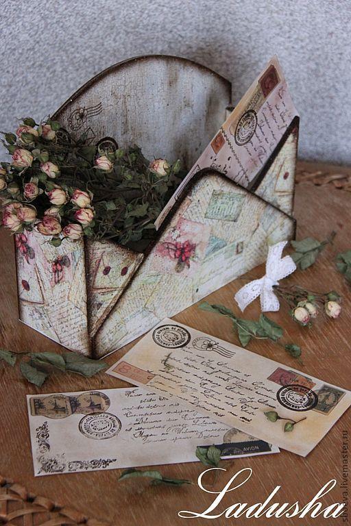 """Корзины, коробы ручной работы. Ярмарка Мастеров - ручная работа. Купить Короб для писем и бумаг """"Воспоминание"""". Handmade. Короб"""