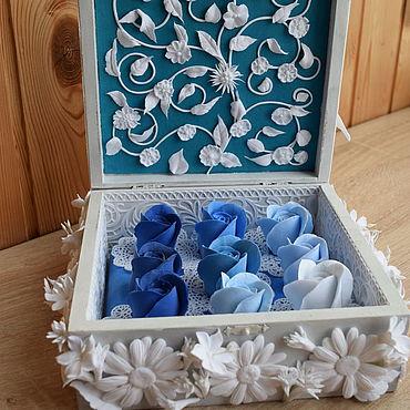 Свадебный салон ручной работы. Ярмарка Мастеров - ручная работа Свадебная шкатулка для зимнего торжества. Handmade.