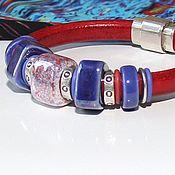 Украшения handmade. Livemaster - original item Bracelet Regaliz Red and Blue. Handmade.
