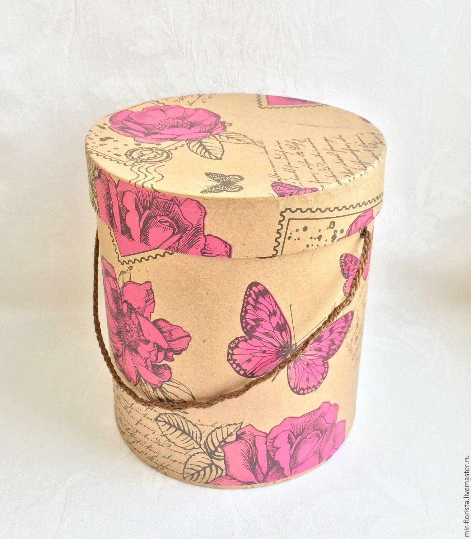 Коробка для цветов мастер класс