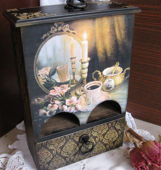 Кухня ручной работы. Ярмарка Мастеров - ручная работа. Купить Чайный комод  Свеча горела..... Handmade. Комод для чая