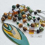 Украшения handmade. Livemaster - original item Beads with a pendant