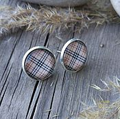 Украшения handmade. Livemaster - original item Earrings silver plated Cage beige. Handmade.
