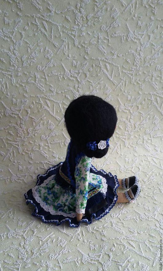 Куклы тыквоголовки ручной работы. Ярмарка Мастеров - ручная работа. Купить Кукла Флоренция. Handmade. Синий, подарок на день рождения