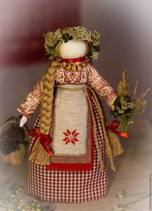 """Народные куклы ручной работы. Ярмарка Мастеров - ручная работа. Купить Кукла-оберег """"Берегиня дома"""". Handmade. Ярко-красный"""