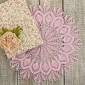 Для дома и интерьера ручной работы. Ярмарка Мастеров - ручная работа Салфетка крючком Розовые розы. Handmade.