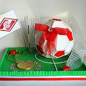 Сувениры и подарки ручной работы. Ярмарка Мастеров - ручная работа Букет из конфет - Мяч. Handmade.
