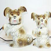Винтаж handmade. Livemaster - original item Lamp-night Dog made of porcelain. Handmade.