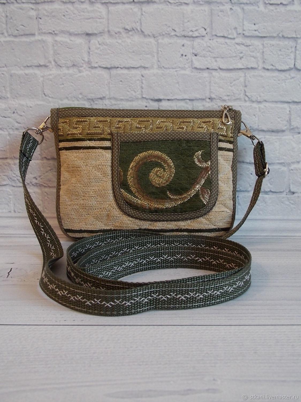 Small handbag, for phone, for walking, eco, green, Crossbody bag, Novosibirsk,  Фото №1