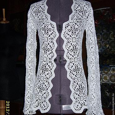"""Одежда ручной работы. Ярмарка Мастеров - ручная работа Жакет """"Снежинка"""". Handmade."""