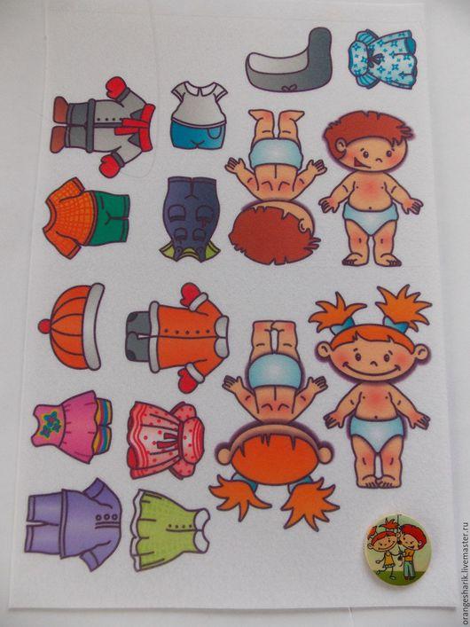 Другие виды рукоделия ручной работы. Ярмарка Мастеров - ручная работа. Купить Фетр с рисунком Куколки ростом 7,5-8см. Handmade.