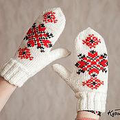 Аксессуары ручной работы. Ярмарка Мастеров - ручная работа Варежки с народными узорами. Handmade.