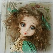 Куклы и игрушки ручной работы. Ярмарка Мастеров - ручная работа Мятные горошинки (Куколка Ася ). Handmade.
