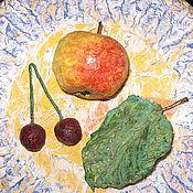 Картины и панно ручной работы. Ярмарка Мастеров - ручная работа Тарелка фруктов. Handmade.