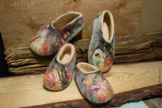 """Обувь ручной работы. Ярмарка Мастеров - ручная работа. Купить Тапки """"Лес"""". Handmade. Уютные тапочки, ручная работа"""