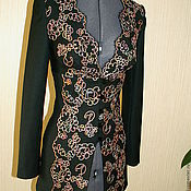 Одежда ручной работы. Ярмарка Мастеров - ручная работа Брючный костюм с кружевом. Handmade.