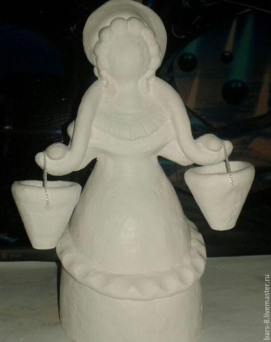 Народные куклы ручной работы. Ярмарка Мастеров - ручная работа. Купить Гипсовые игрушки (дымковские). Handmade. Белый, гипс