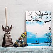 Картины и панно ручной работы. Ярмарка Мастеров - ручная работа Под парусом. Handmade.