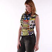 """Одежда ручной работы. Ярмарка Мастеров - ручная работа Атласная блузка """"Этно"""". Handmade."""