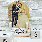 Канцелярские товары handmade. Livemaster - original item Perpetual calendar wedding Anniversary (with your photos). Handmade.