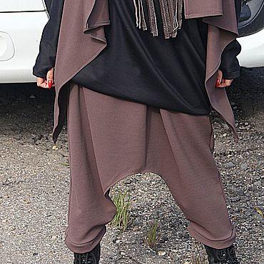 Одежда ручной работы. Ярмарка Мастеров - ручная работа Брюки: Брюки - юбка CAPPUCCINO. Handmade.