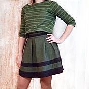Одежда ручной работы. Ярмарка Мастеров - ручная работа Юбка шерстяная со складками. Handmade.