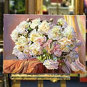 Картины и панно handmade. Livemaster - original item Painting Flowers.Peonies (2 options). Handmade.
