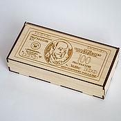 Подарки к праздникам ручной работы. Ярмарка Мастеров - ручная работа Купюрница шкатулка для денег. Handmade.