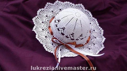 Шапки и шарфы ручной работы. Ярмарка Мастеров - ручная работа. Купить Ажурные шляпки для ваших принцесс. Handmade. Шляпка для девочки