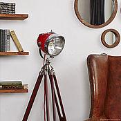 handmade. Livemaster - original item Moto floor Lamp in industrial style RoadMaster Red. Handmade.