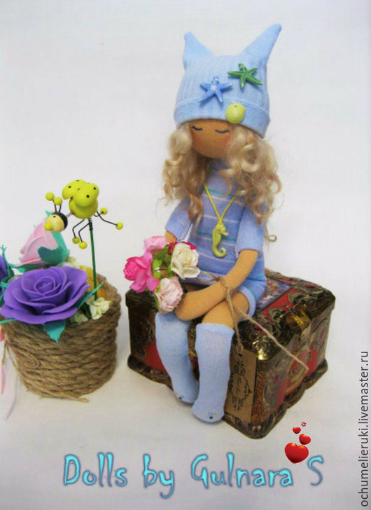 Куклы Тильды ручной работы. Ярмарка Мастеров - ручная работа. Купить Текстильная каркасная кукла. Тильда. Handmade. Голубой, 8марта