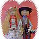 Коллекционные куклы ручной работы. Ярмарка Мастеров - ручная работа. Купить Влад и  Наташа. Handmade. Разноцветный, осень 2015, кожа