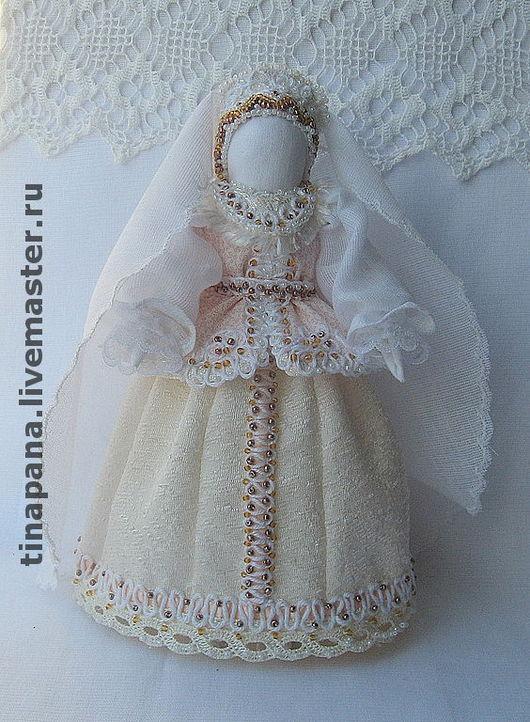 """Народные куклы ручной работы. Ярмарка Мастеров - ручная работа. Купить """"Веста"""". Handmade. Народная кукла, белый, невеста, биссер"""