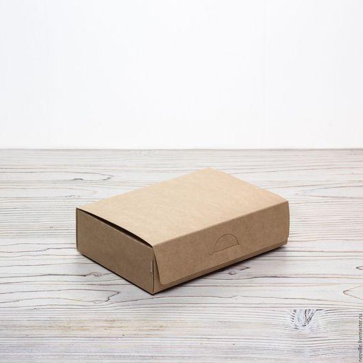 Упаковка ручной работы. Ярмарка Мастеров - ручная работа. Купить Коробка 16.5х11.5х4.5 крафт с ламинацией самосборная. Handmade.