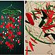 Ловцы снов ручной работы. Christmas Baby Mobile handmade green Dreamcatcher bedroom red Baby Mob. Anna Bijouterie (AnnaBijouterie). Ярмарка Мастеров.