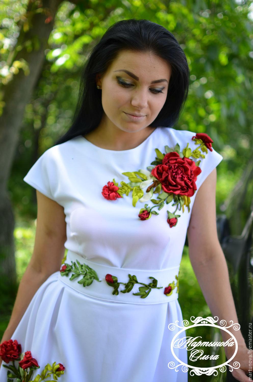 Вышивка мастер класс платья