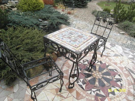 Экстерьер и дача ручной работы. Ярмарка Мастеров - ручная работа. Купить кованые стол и стулья. Handmade. Комбинированный, Ковка, торсион