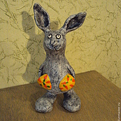 Куклы и игрушки ручной работы. Ярмарка Мастеров - ручная работа Зайка с кормашками. Handmade.
