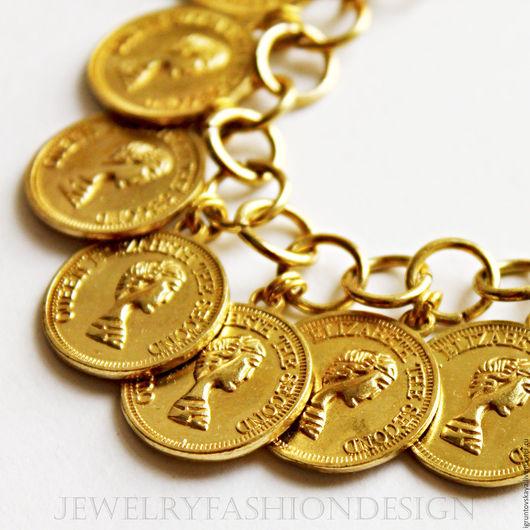 """Браслеты ручной работы. Ярмарка Мастеров - ручная работа. Купить Браслет """"Монет"""". Handmade. Золотой, стильное украшение, деловой стиль"""