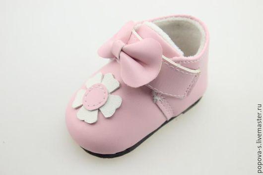 Одежда для кукол ручной работы. Ярмарка Мастеров - ручная работа. Купить Обувь для куклы или игрушки. Handmade. Розовый, ботнки