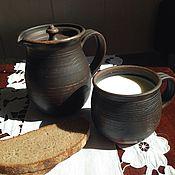 """Посуда ручной работы. Ярмарка Мастеров - ручная работа Комплект """"Люблю молоко"""" 2.. Handmade."""
