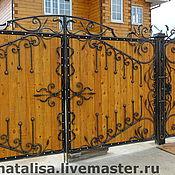 Для дома и интерьера ручной работы. Ярмарка Мастеров - ручная работа Кованые ворота. Handmade.