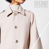 Одежда handmade. Livemaster - original item Poncho: Women`s stylish Cape with fur. Handmade.